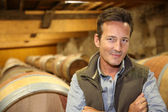 Winemaker with crossed arms — Stock Photo