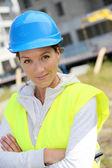 Engineer with security helmet — Stock Photo