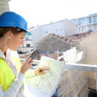 Engineer checking construction — Stock Photo #47783179