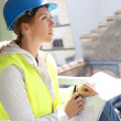 Engineer on building site — Stock Photo #47783199