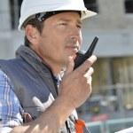 Man using walkie-talkie — Stock Photo #47787781