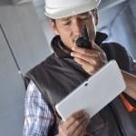Entrepreneur on building site — Stock Photo #47789049