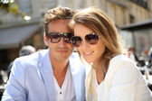 Couple with sunglasses — Stock Photo