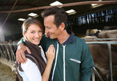 Embracing par uppfödare — Stockfoto