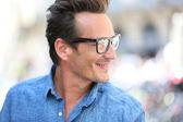Stylish man with eyeglasses — Stock Photo