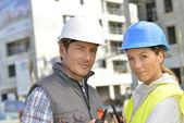 Construction team — Stock Photo