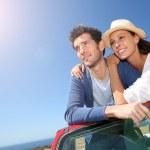 Couple in convertible car — Stock Photo #47792381