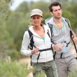 Couple on hiking journey — Stock Photo