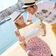 Couple looking at map — Stock Photo #47817773