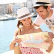 Couple looking at map — Stock Photo #47817805