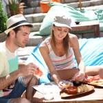Tourists having food — Stock Photo #47818247