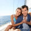 Постер, плакат: Couple at cruising journey