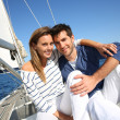 Couple enjoying cruising — Stock Photo