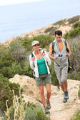 Couple on hiking day — Stock Photo