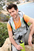 Hiker relaxing — Stock Photo