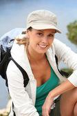Hiking girl — Stock Photo