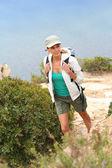 Woman hiking — Stock Photo