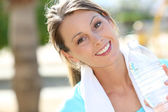 Girl after exercising — Stockfoto