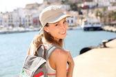 Girl visiting Ibiza — Stock Photo