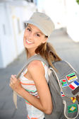 Girl traveling — Stock Photo