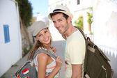 Couple of backpackers — Stock Photo