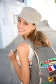 Girl traveling — Stock Photo