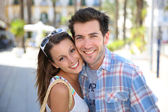 Couple in summer time — Stock Photo