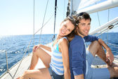 Couple at cruising journey — Stock Photo