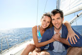 Couple at cruising journey — Stock Photo