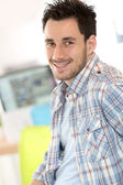 Adult student in office — Stock Photo