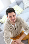 Man relaxing at home — Stock Photo