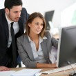 Manager with businesswoman — Stock Photo