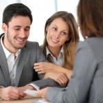 Couple meeting financial adviser — Stock Photo #47820575