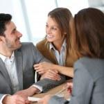 Couple meeting adviser — Stock Photo #47820583