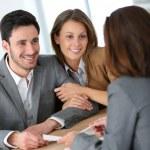 Couple meeting adviser — Stock Photo #47820585