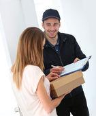 Firmare la prova di consegna — Foto Stock