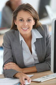 Businesswoman working — Stock Photo