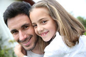 Daddy with girl — Stock Photo