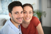 Embracing couple — Stock Photo