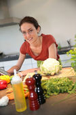 Woman at kitchen — Stock Photo