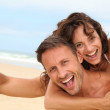Couple at the beach — Stock Photo #6703892