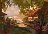 Polynesian Beach Hut — Stock Photo