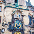 Astronomical Clock on Old Town Hall Tower in Prague — Stock Photo #20879515