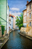 Water canal in Prague — Stock Photo