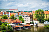 View of Prague from Charles bridge — Stock Photo