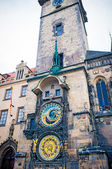 Astronomical Clock on Old Town Hall Tower in Prague — Stock Photo
