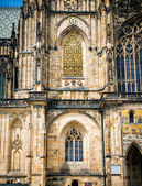 Saint Vitus Cathedral, part of the facade — Stock Photo
