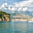 Stock Photo: Adriatic landscape - seand mountain, Budva