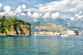 亚得里亚海景观-海和山、 布德瓦 — 图库照片