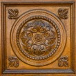 Carved wooden pattern - Stock Photo